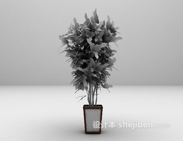 植物室内装饰3d模型下载