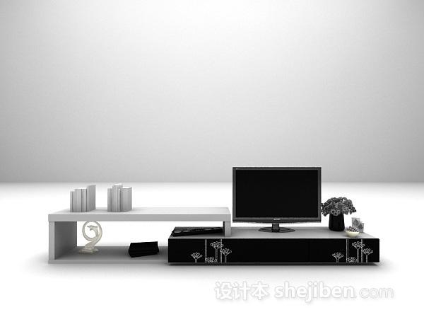 现代家用电视柜3d模型下载