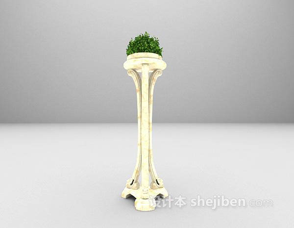 花卉装饰架3d模型下载