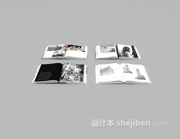 装饰书3d模型下载