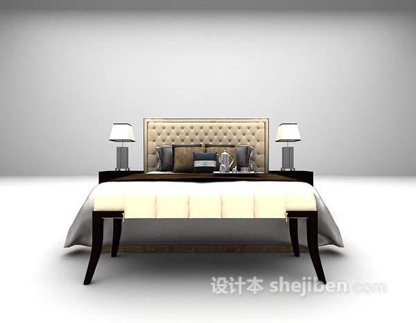 奢华型床3d模型下载