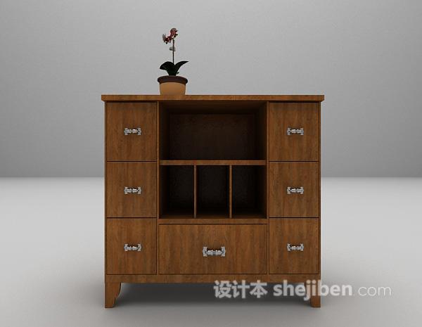 现代柜子3d模型下载