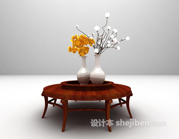 中式茶几3d模型下载