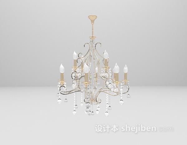 欧式水晶吊灯3d模型免费下载