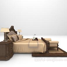 欧式风格床具3d模型下载
