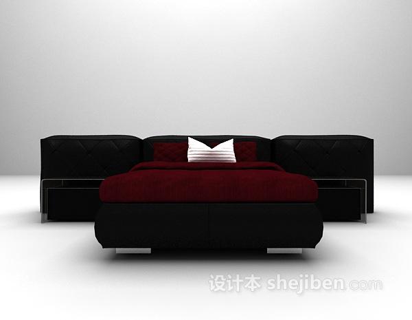 单人床3d模型下载