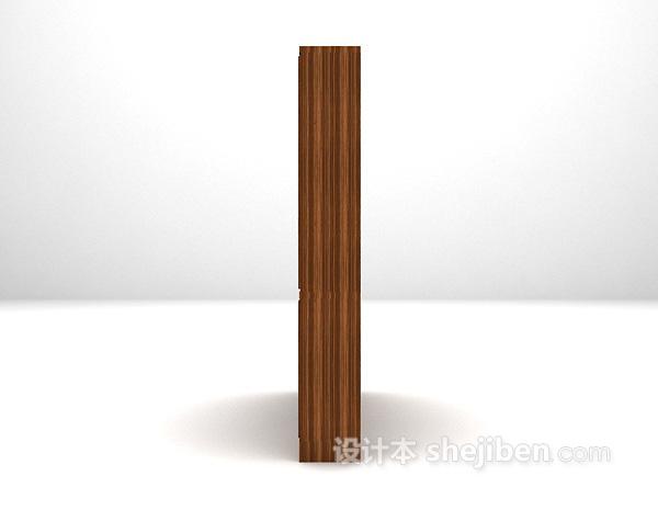 木质酒柜3d模型下载