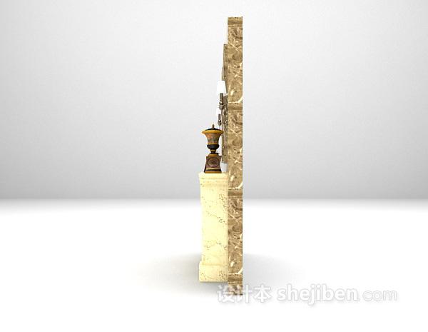 石材壁炉3d模型下载