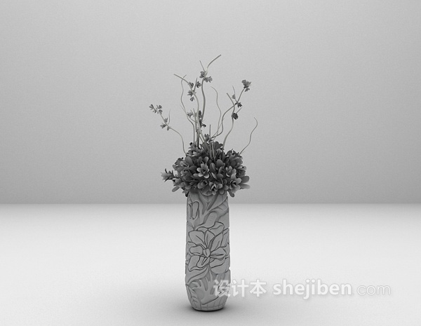 花束盆栽3d模型下载