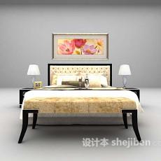 木制床推荐3d模型下载