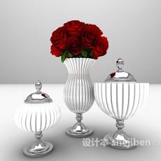 东南亚风格花瓶3d模型下载