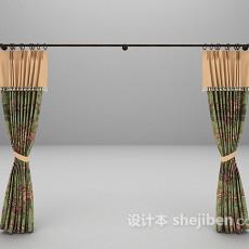 花纹窗帘3d模型下载