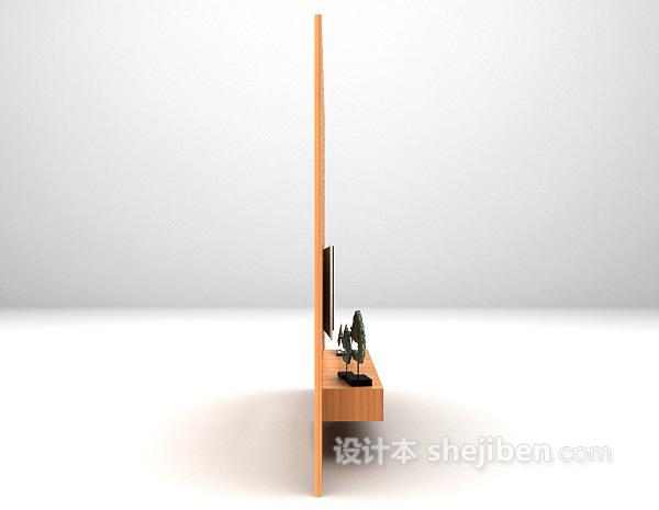 现代风格电视墙3d模型下载