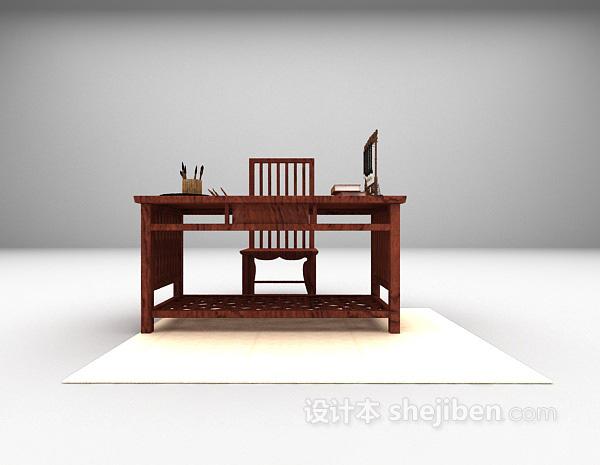 中式书桌3d模型下载推荐