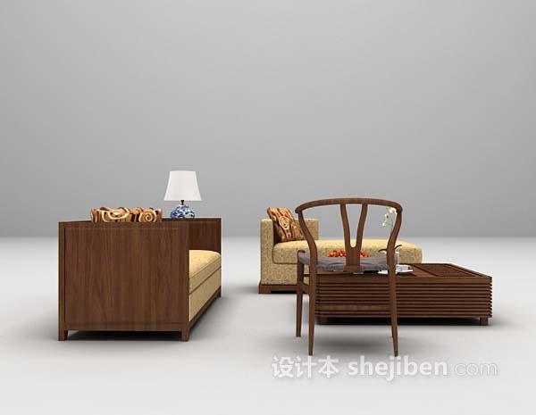 东南亚风格沙发3d模型下载