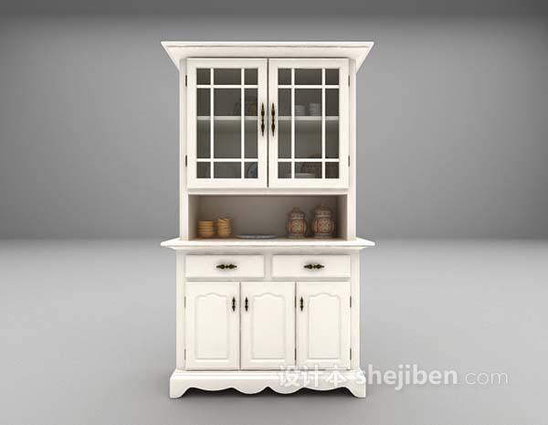 白色橱柜3d模型下载