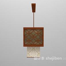 中式吊灯max3d模型下载