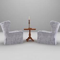 高背单人沙发3d模型下载