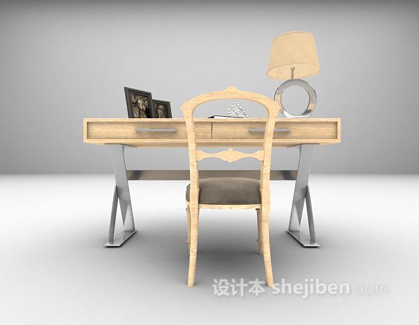 东南亚书桌3d模型下载
