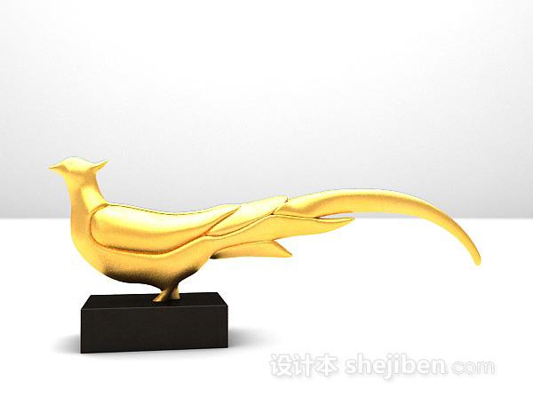雕塑品3d模型免费下载