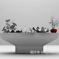 假山植物3d模型下载