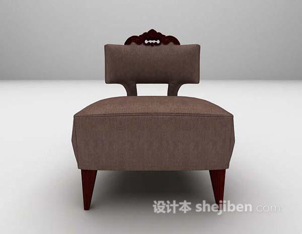新古典皮质单椅3d模型下载