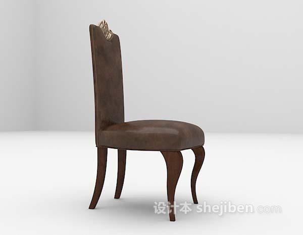 欧式黑色家居椅3d模型下载