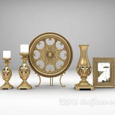 欧式烛台装饰品3d模型下载