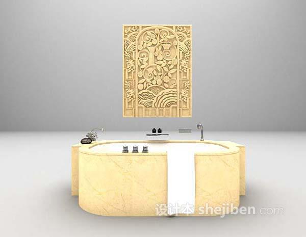 欧式浴缸3d模型下载