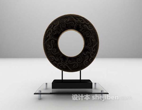 圆形摆件3d模型下载