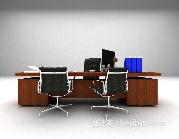 现代办公桌椅模型下载