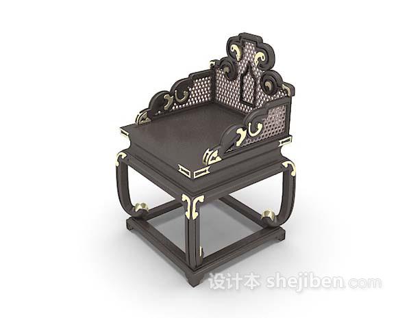 黑色椅子3d模型下载