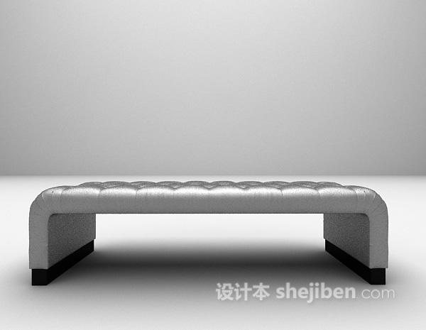 欧式白色床榻3d模型下载