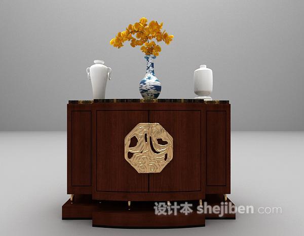 木质玄关柜模型下载