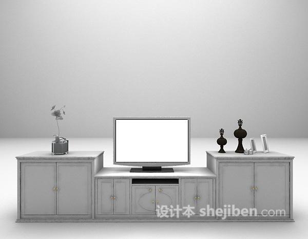 欧式家庭电视柜3d模型下载