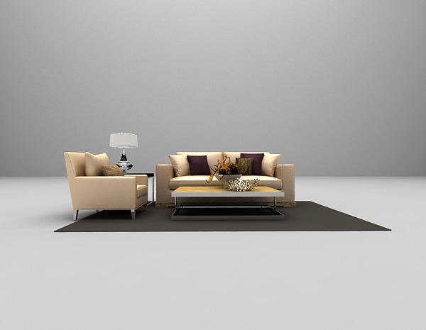 现代沙发组合3d模型下载