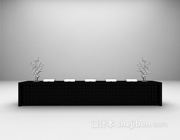 办公桌椅3d模型下载