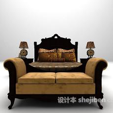 欧式床具3d模型下载
