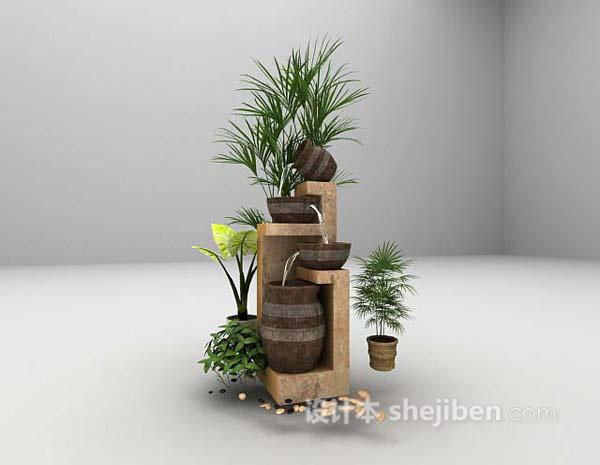 花园装饰品3d模型下载