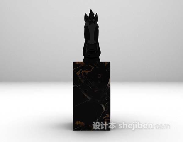 雕塑品3d模型下载