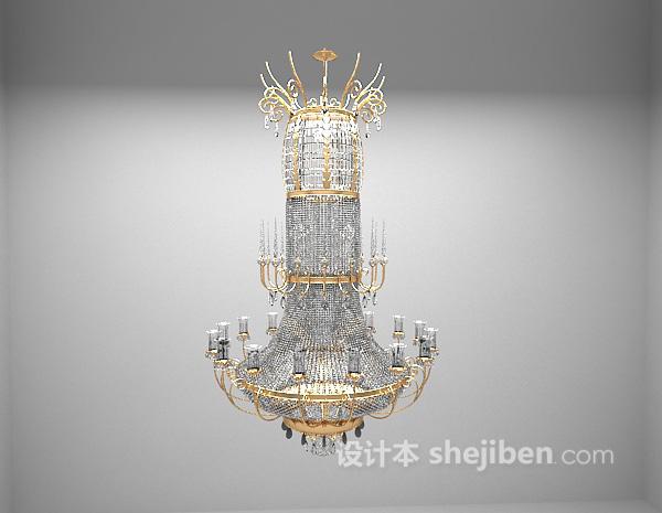 欧式豪华吊灯3d模型下载