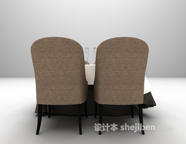 欧式餐桌椅3d模型下载