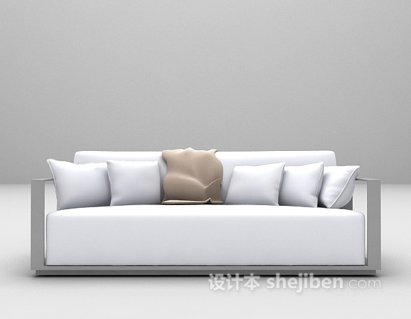简约新中式沙发3d模型下载