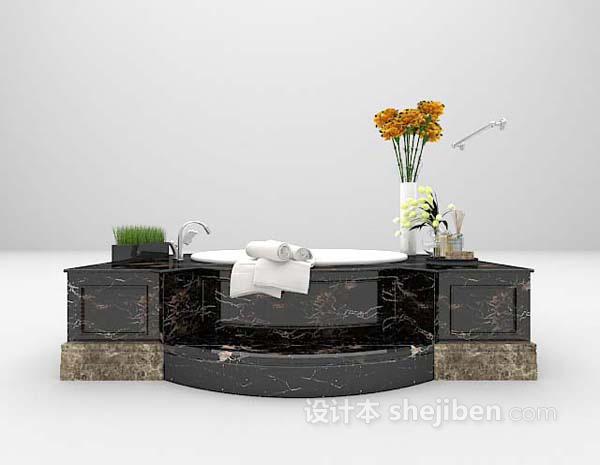 现代洗面盆3d模型下载