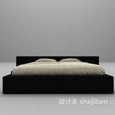 黑色床3d模型下载
