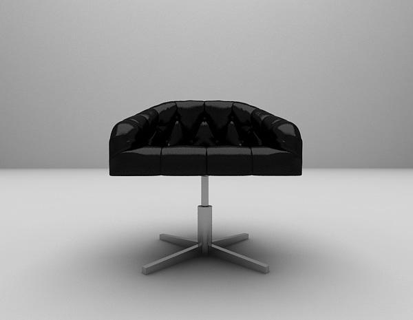 皮质办公椅3d模型下载