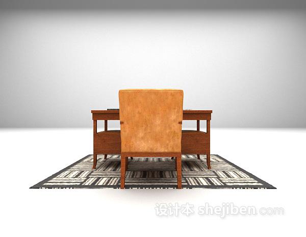 欧式风格书桌3d模型下载