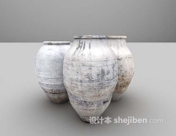 瓷器装饰品3d模型下载