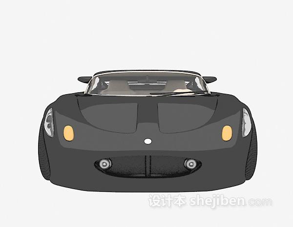 黑色小车3d模型下载