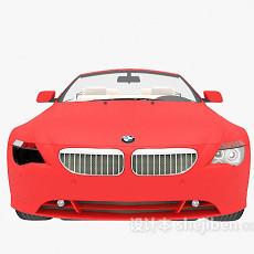 宝马红色跑车3d模型下载